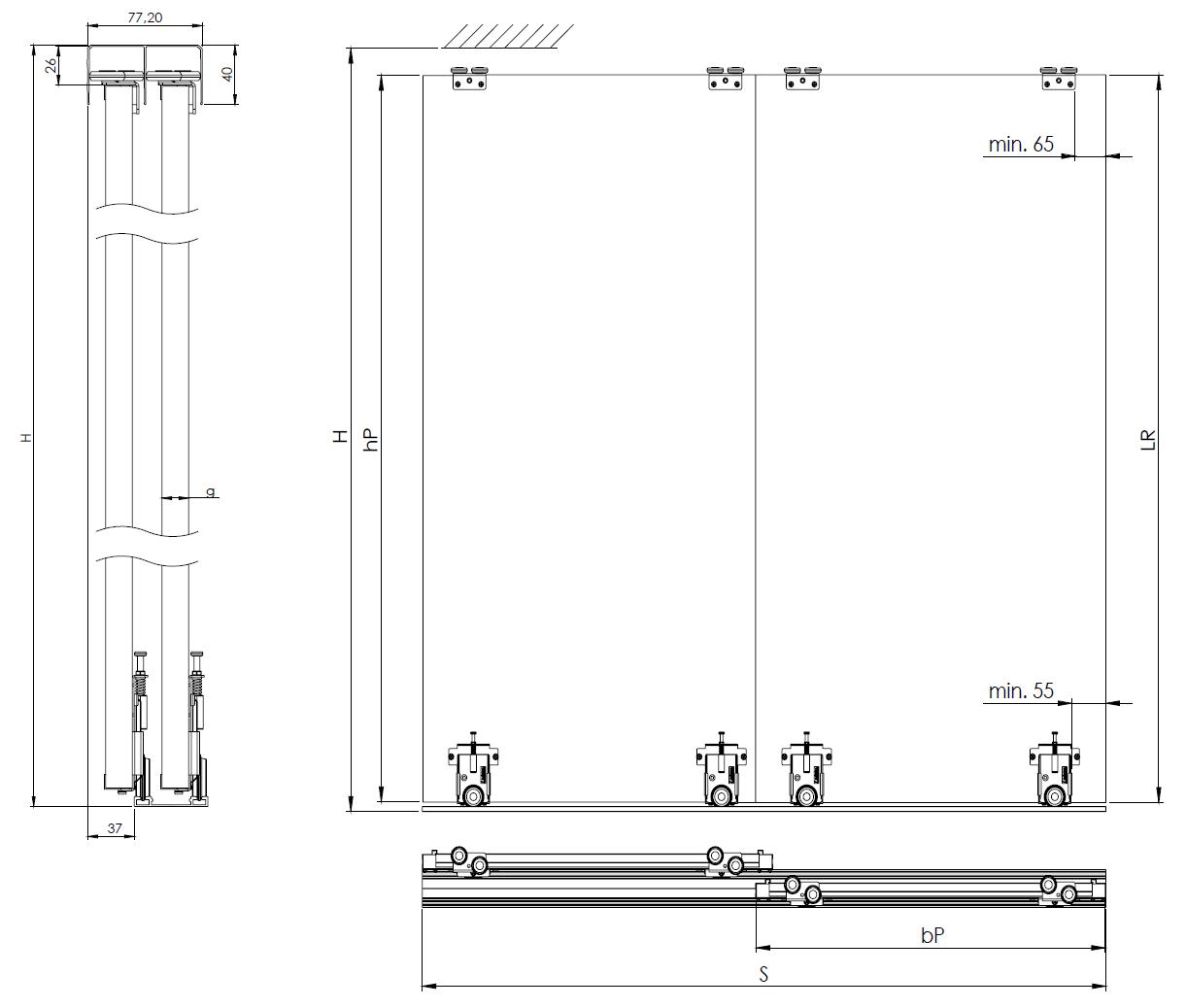 Montageskizze für BS-Standard